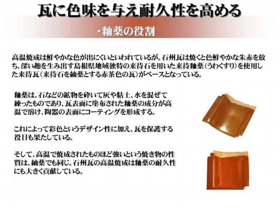 石州瓦釉薬の役割